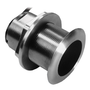 Stainless Steel Thru-hull Mount Transducer with Depth & Temperature (0° tilt) - Airmar SS60