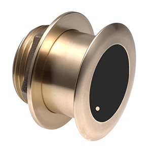 Bronze Tilted Thru-hull Transducer with Depth & Temperature (0° tilt, 8-pin) - Airmar B164