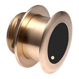 Bronze Tilted Thru-hull Transducer with Depth & Temperature (12° tilt, 8-pin) - Airmar B175M