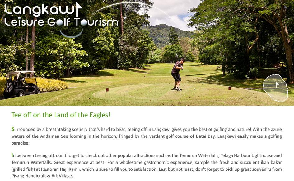 Langkawi Leisure Golf Tourism Travel Itinerary Garmin Malaysia